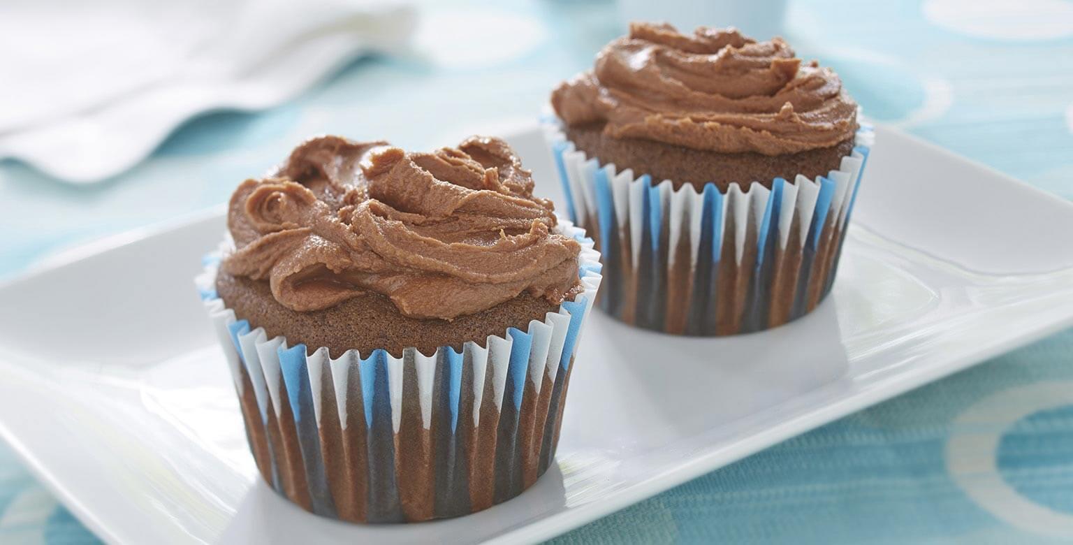 Voir la recette - Cupcakes sans gluten* au chocolat fondant