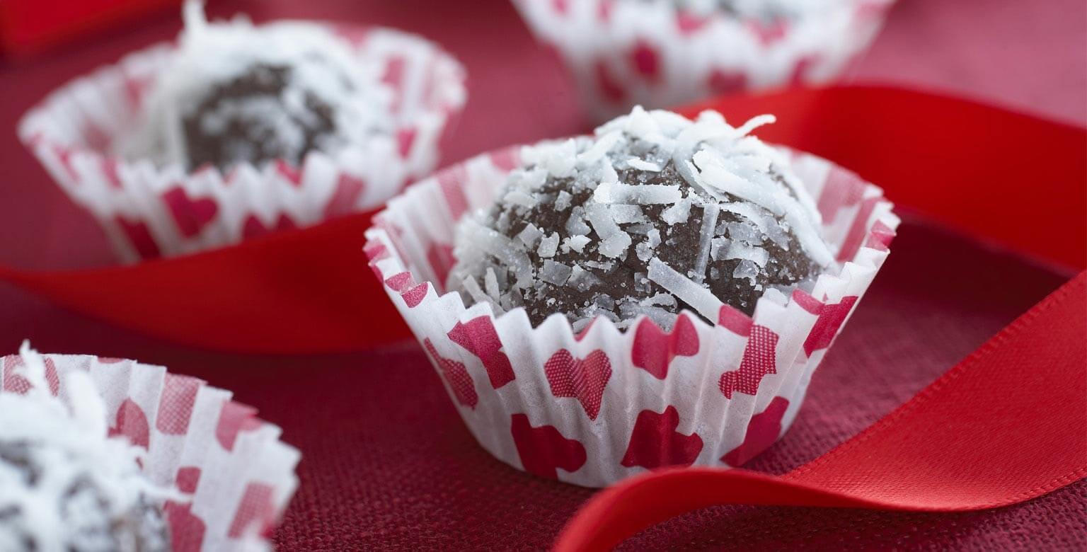 Voir la recette - Douceurs au chocolat et à la noix de coco