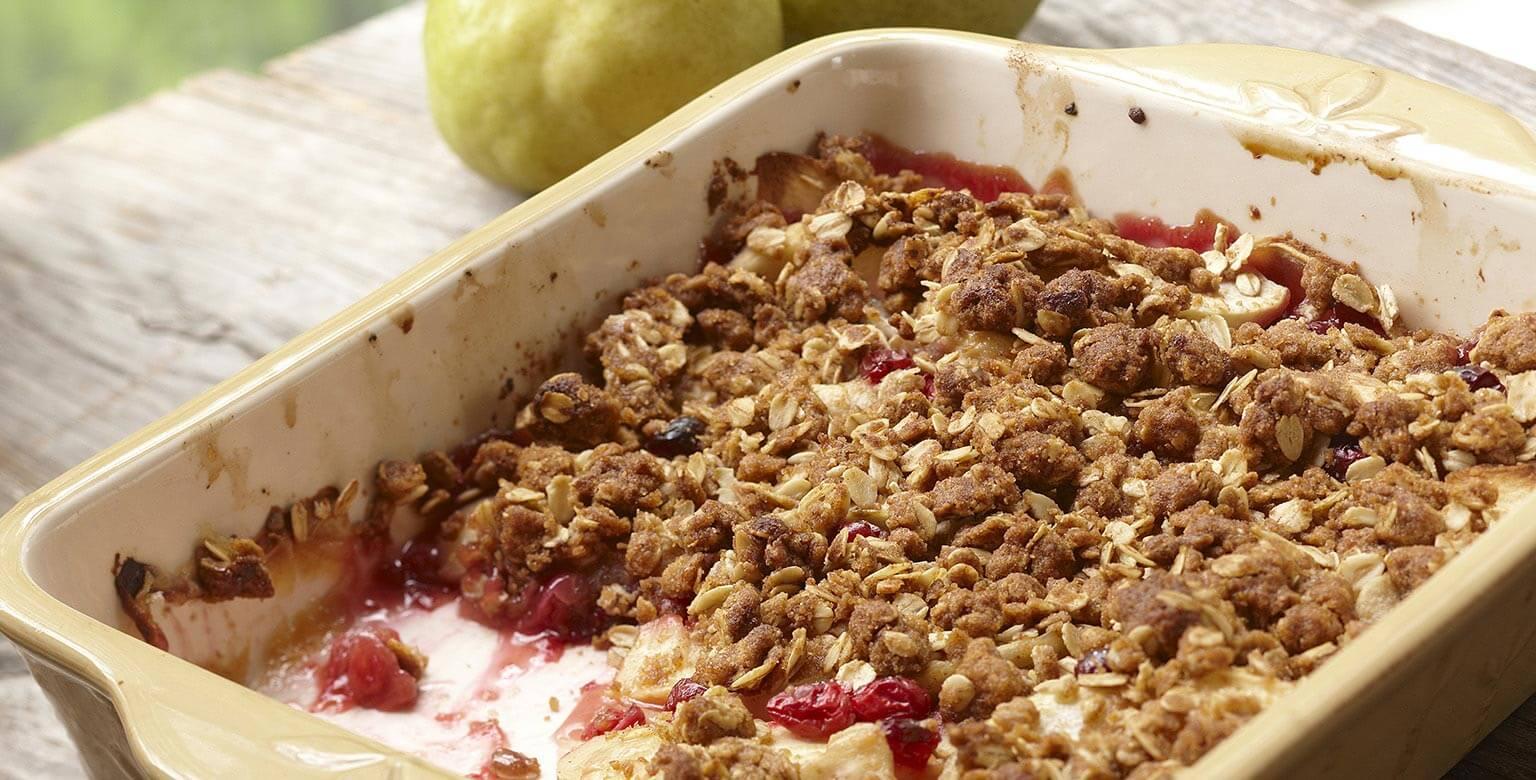 Voir la recette - Fabuleux croustillant aux fruits d'automne