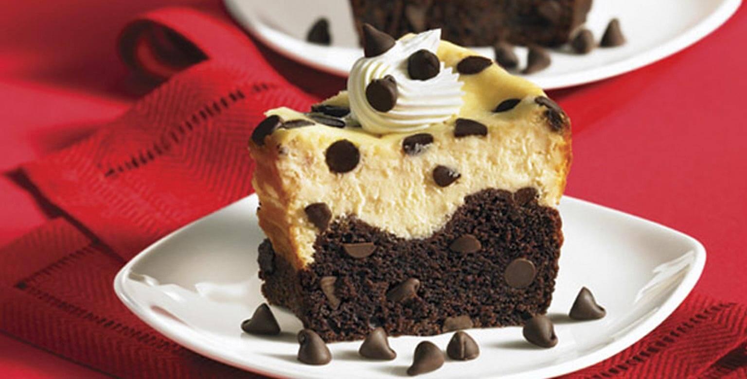 Voir la recette - Gâteau au fromage avec fond de grains de chocolat