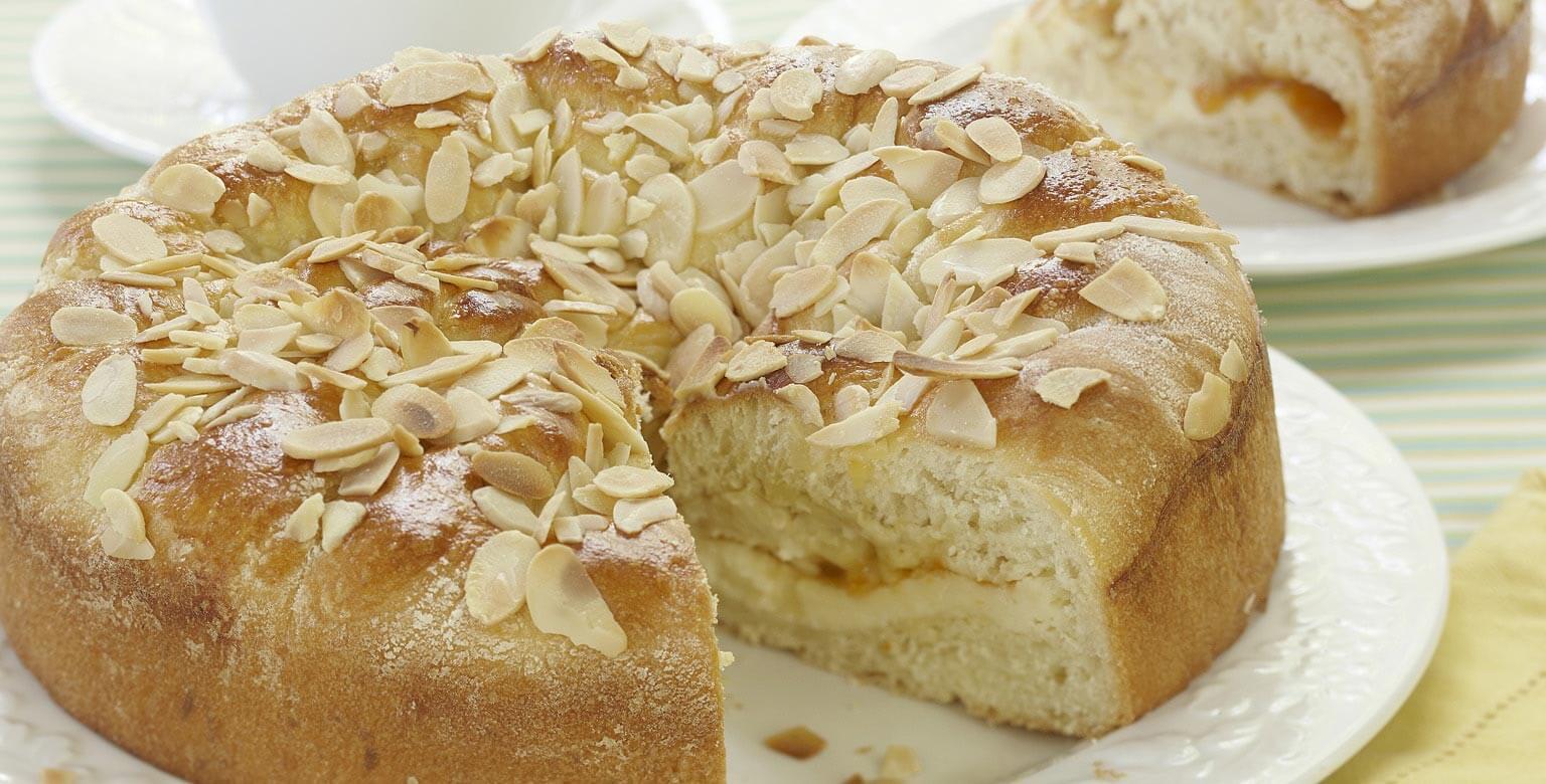 Voir la recette - Gâteau au fromage et aux abricots