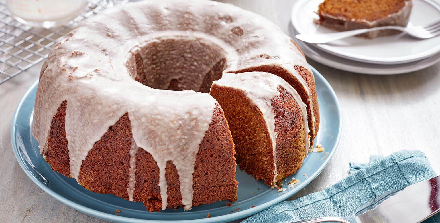 Voir la recette - Gâteau au latté de citrouille épicée