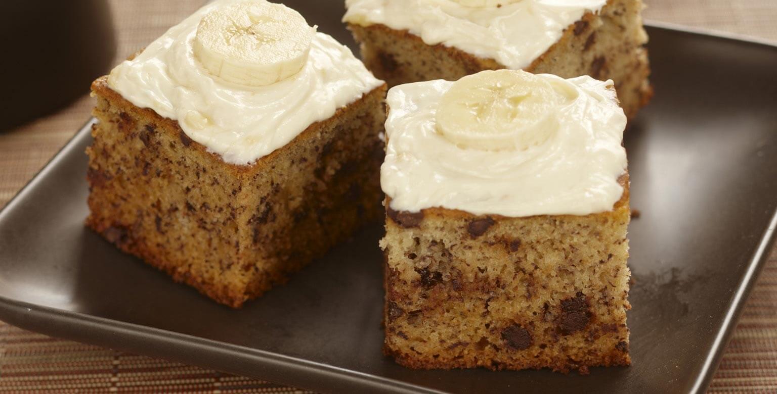 Voir la recette - Gâteau aux bananes et aux grains de chocolat