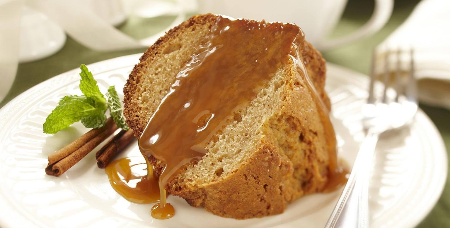 Voir la recette - Gâteau aux épices glacé de caramel
