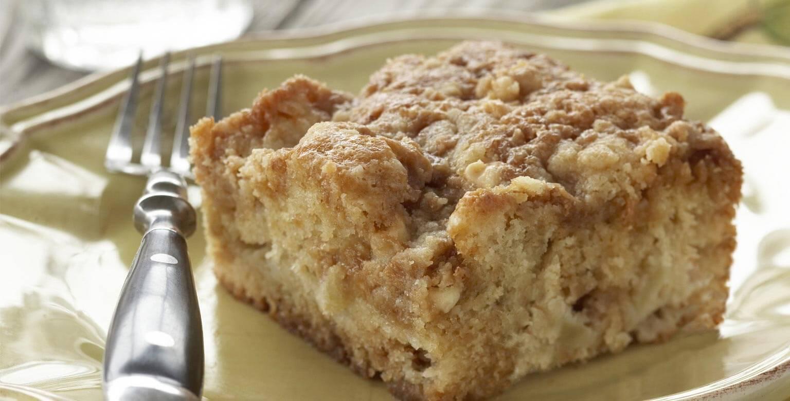 Voir la recette - Gâteau aux pommes et au caramel