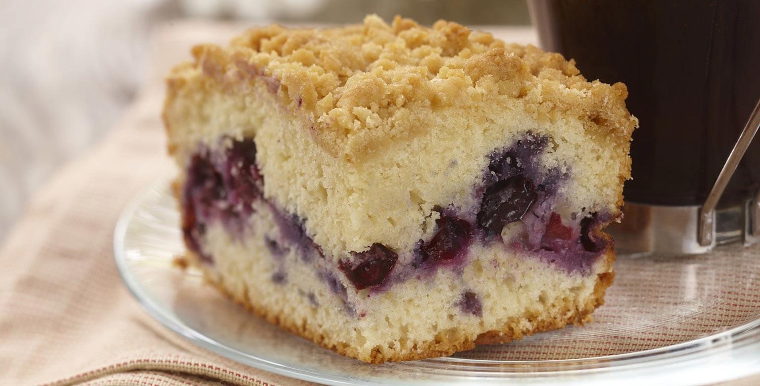 Voir la recette - Gâteau danois aux bleuets