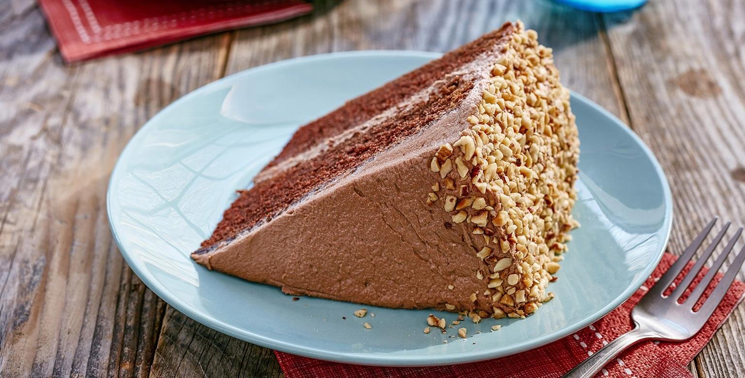 Voir la recette - Gâteau de rêve double chocolat