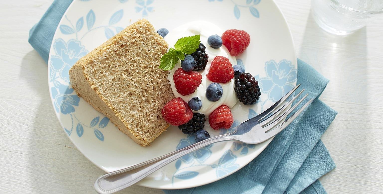 Voir la recette - Gâteau des anges aromatisé sans gluten*