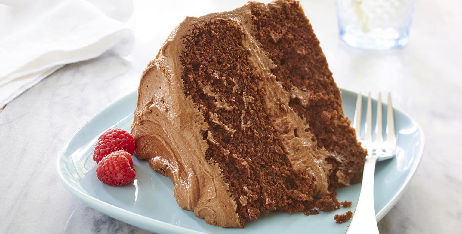 Voir la recette - Gâteau étagé au chocolat fondant sans gluten*