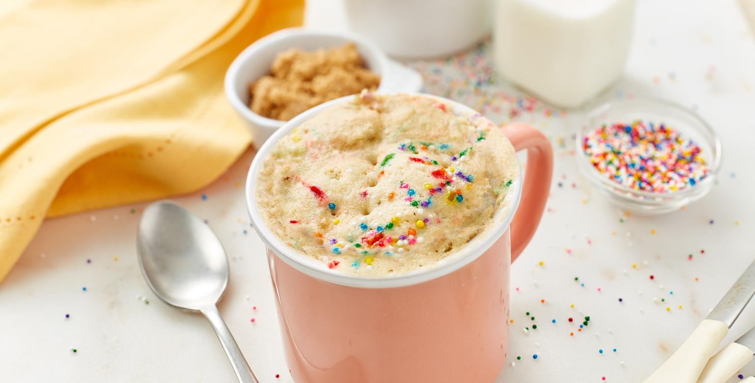 Voir la recette - Gâteau festif dans une tasse