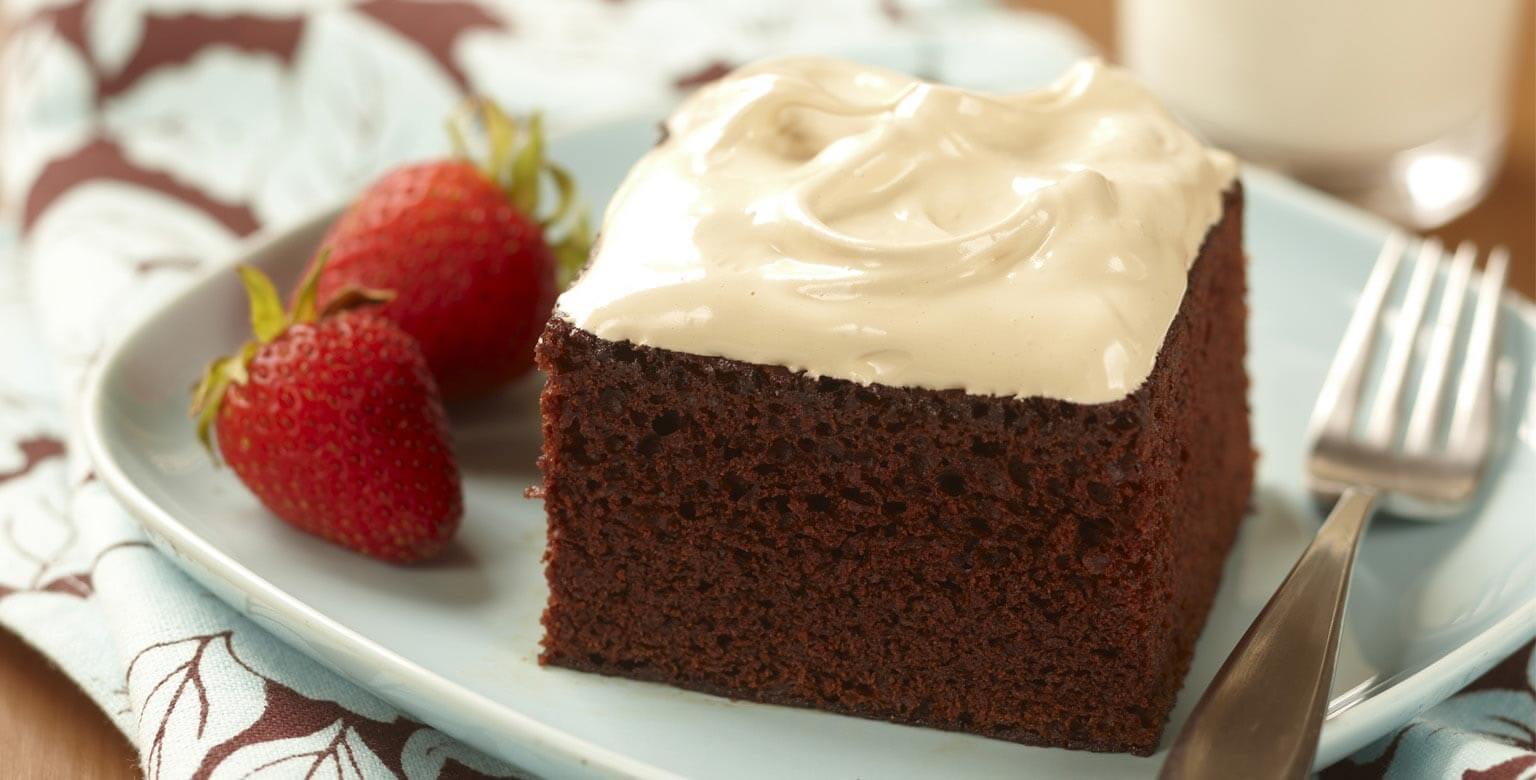 Voir la recette - Gâteau moka au chocolat