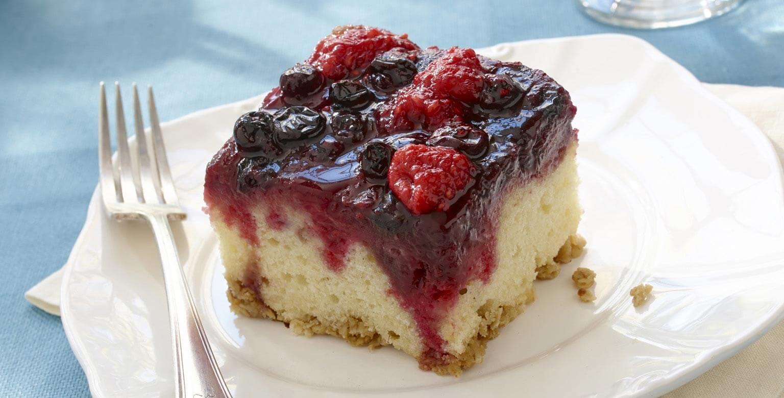 Voir la recette - Gâteau renversé aux petits fruits