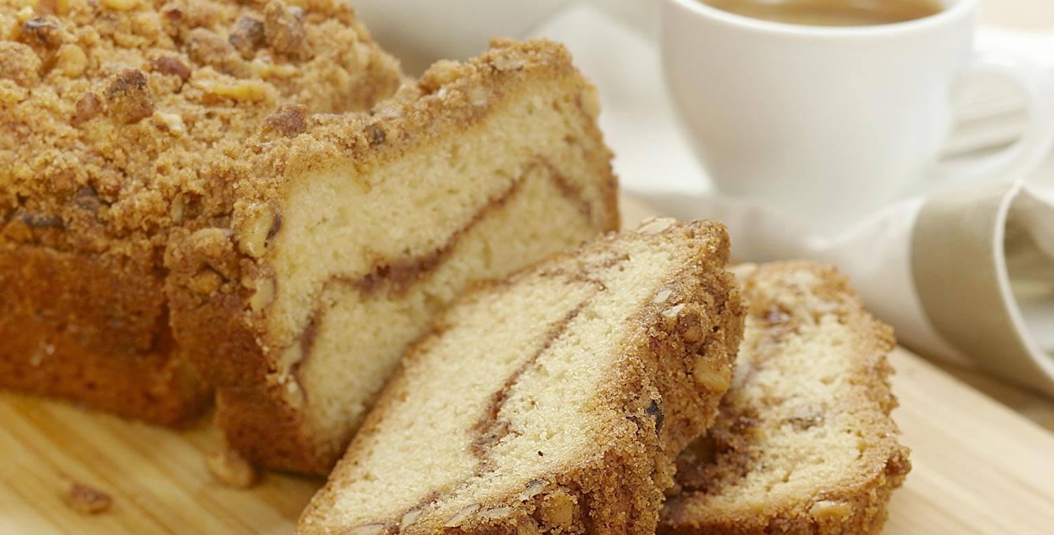 Voir la recette - Gâteau streusel