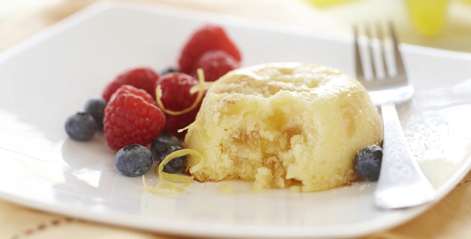 Voir la recette - Gâteaux pouding au citron et au gingembre
