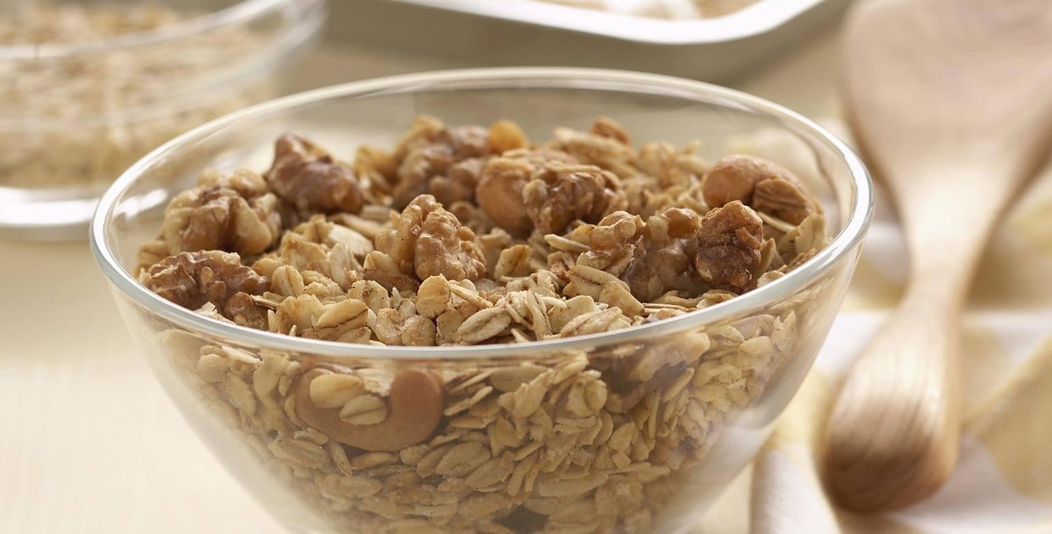 Voir la recette - Granola aux noix et à l'érable