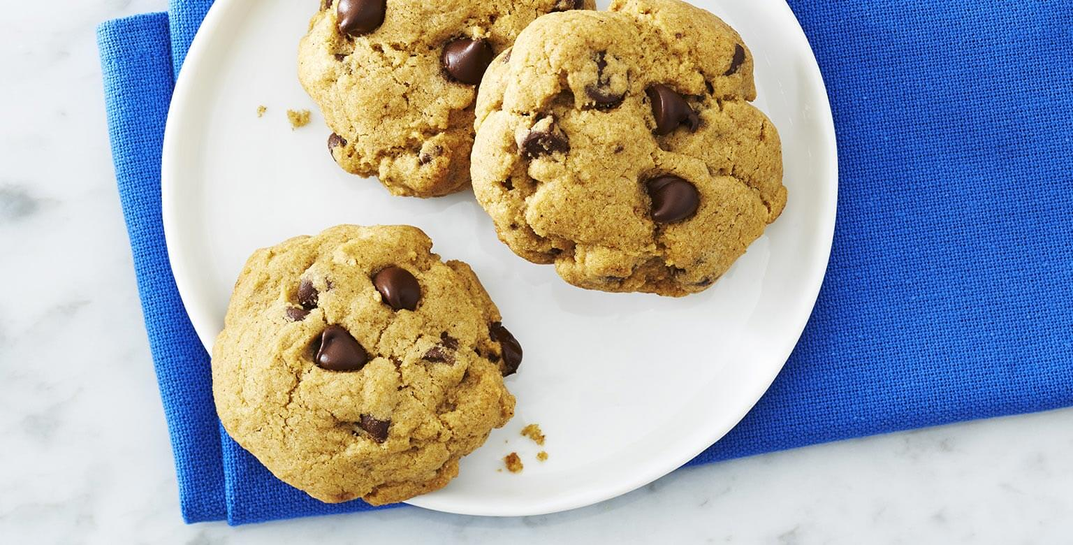 Voir la recette - L'ultime biscuit aux pépites de chocolat sans gluten*
