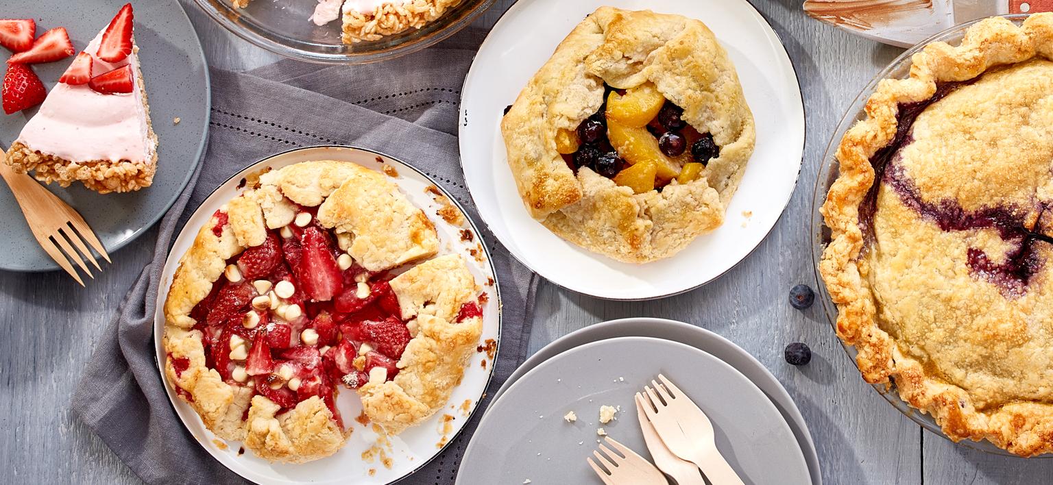 Voir la recette - Mini galettes aux fruits