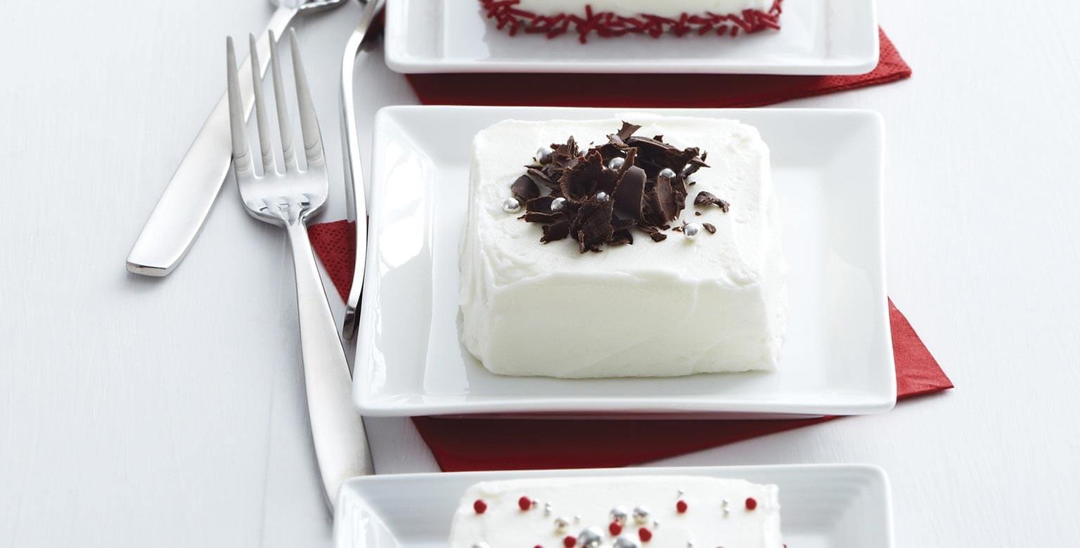 Voir la recette - Mini gâteaux au chocolat blanc