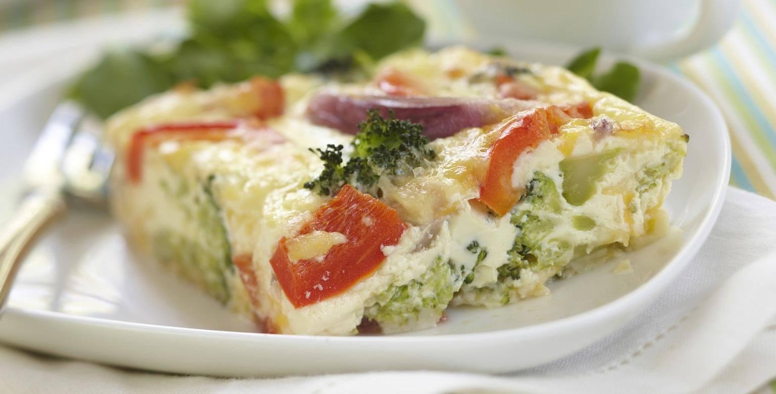 Omelette aux légumes cuite au four