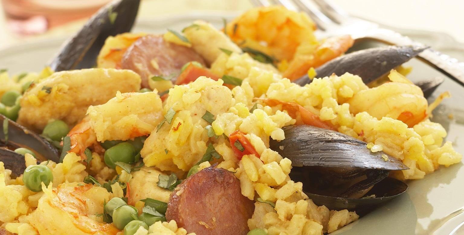 Voir la recette - Paella