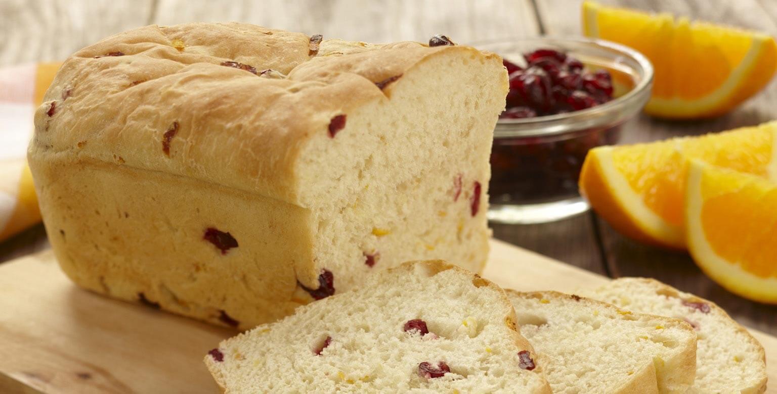 Voir la recette - Pain aux canneberges et à l'orange - Petit pain