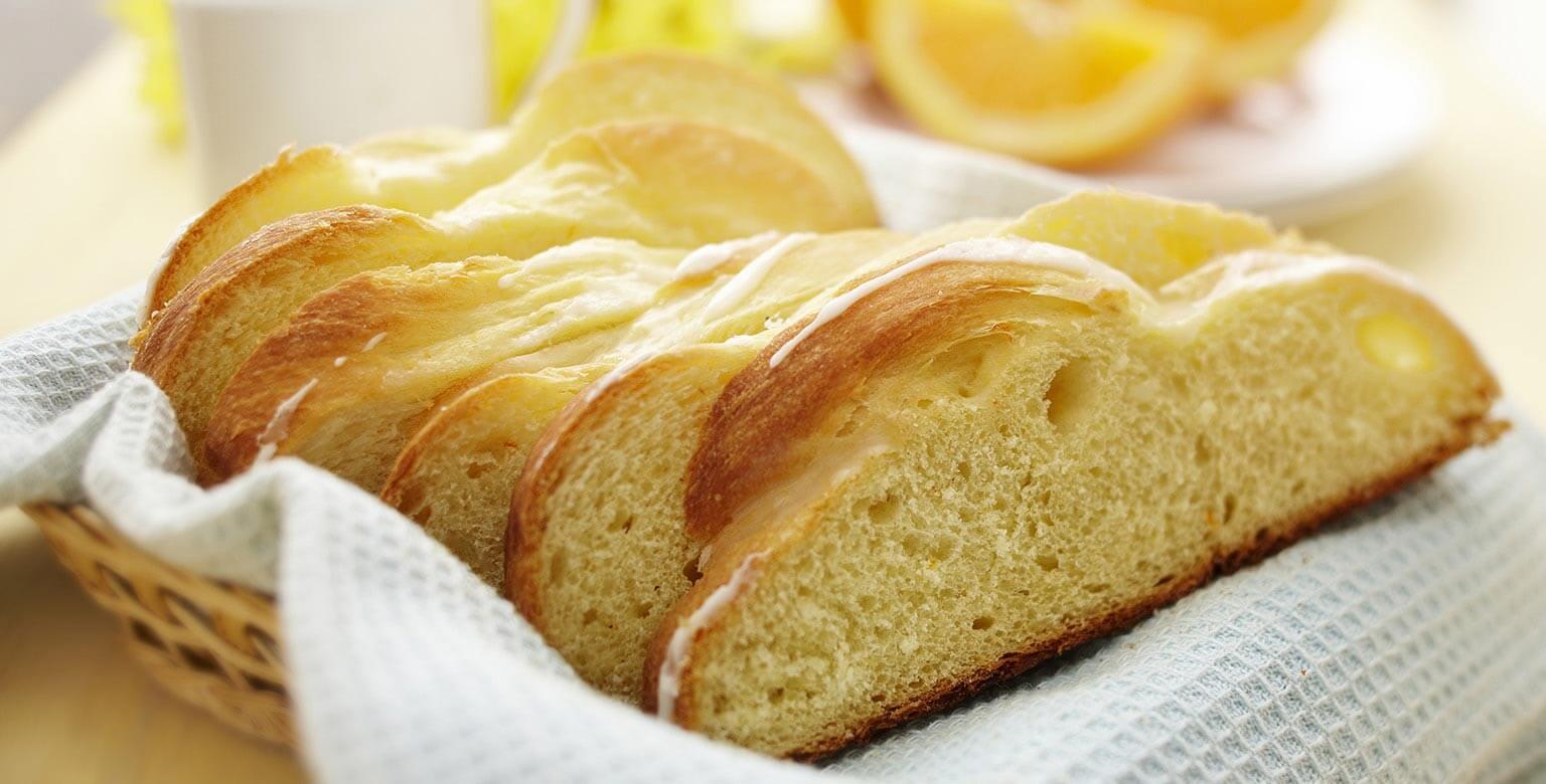 Voir la recette - Pain de Pâques aromatisé à l'orange