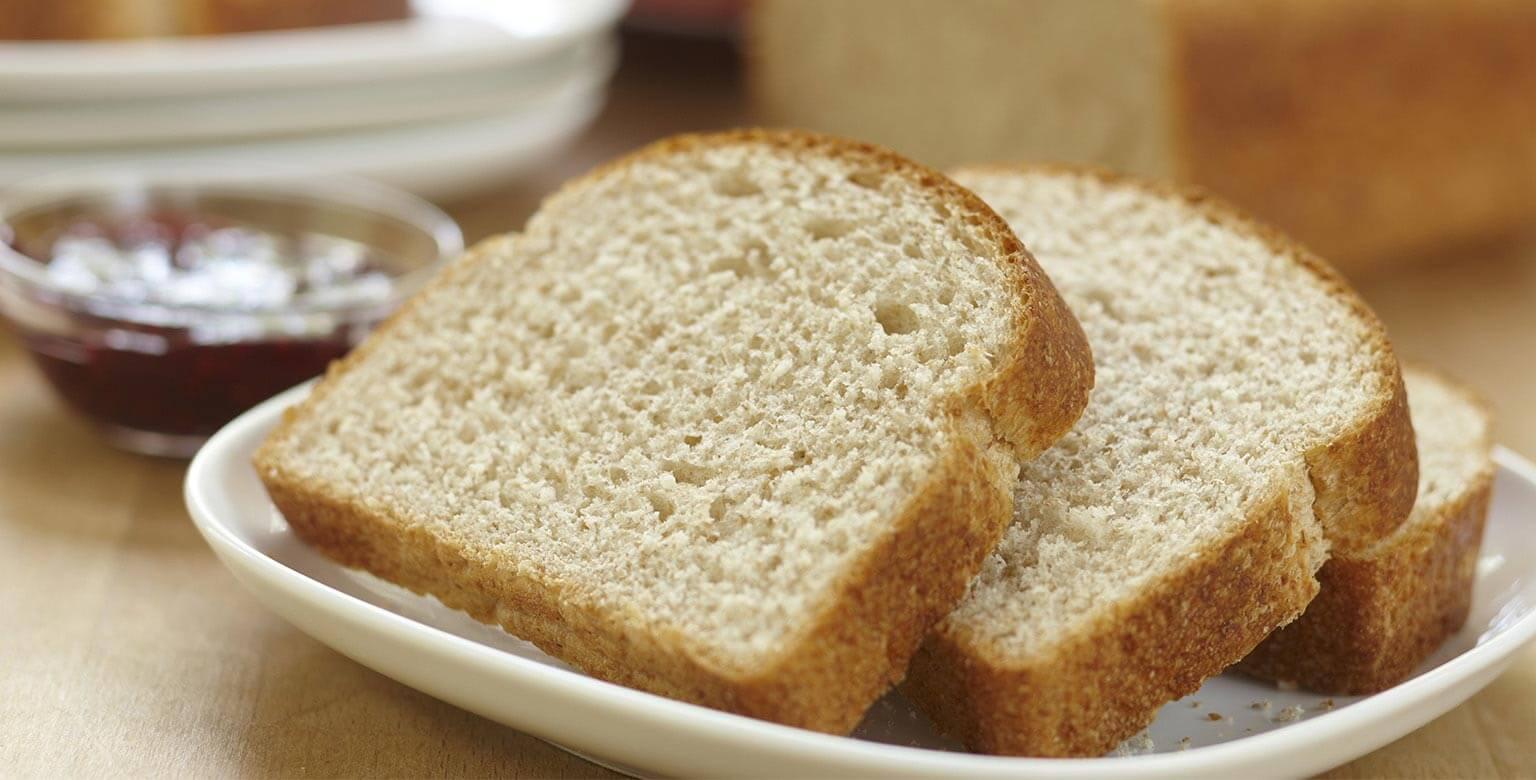 Voir la recette - Pain de blé entier