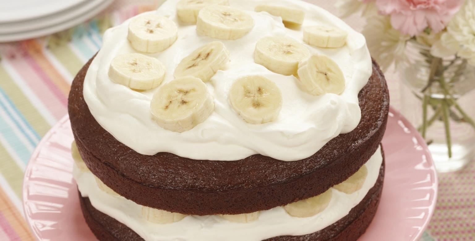 Voir la recette - Pain d'épice à la crème aux bananes