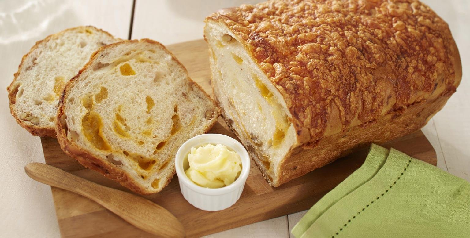 Voir la recette - Pains aux abricots avec noix et fromage