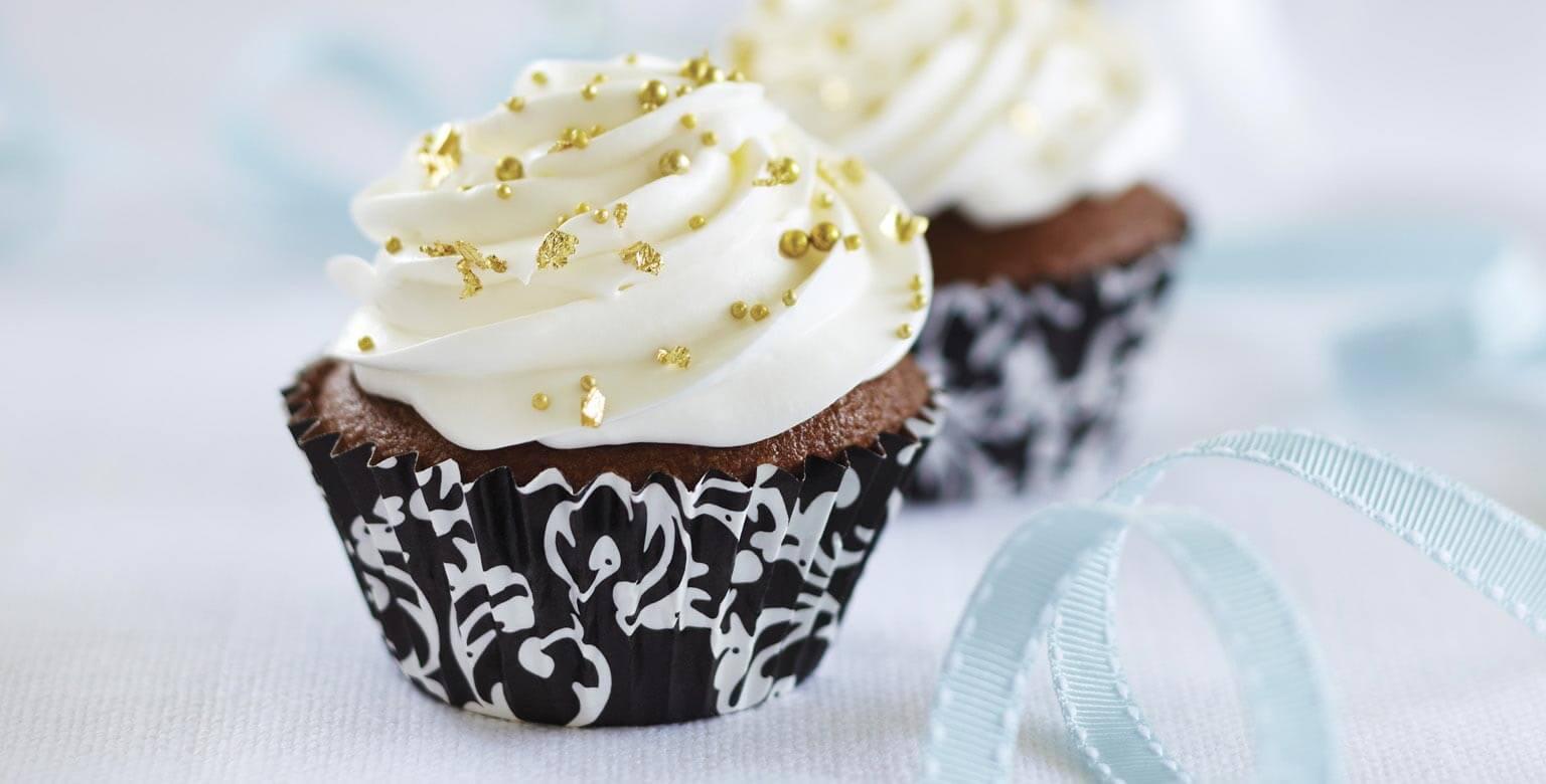 Voir la recette - Petits gâteaux au chocolat fourrés à la vanille