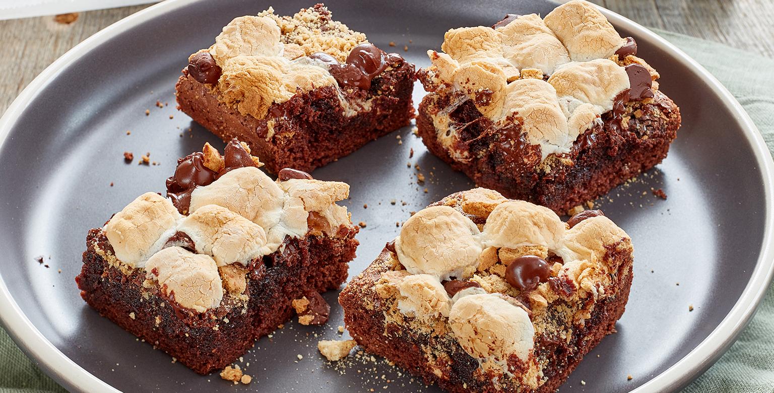 Voir la recette - S'Mores aux brownies