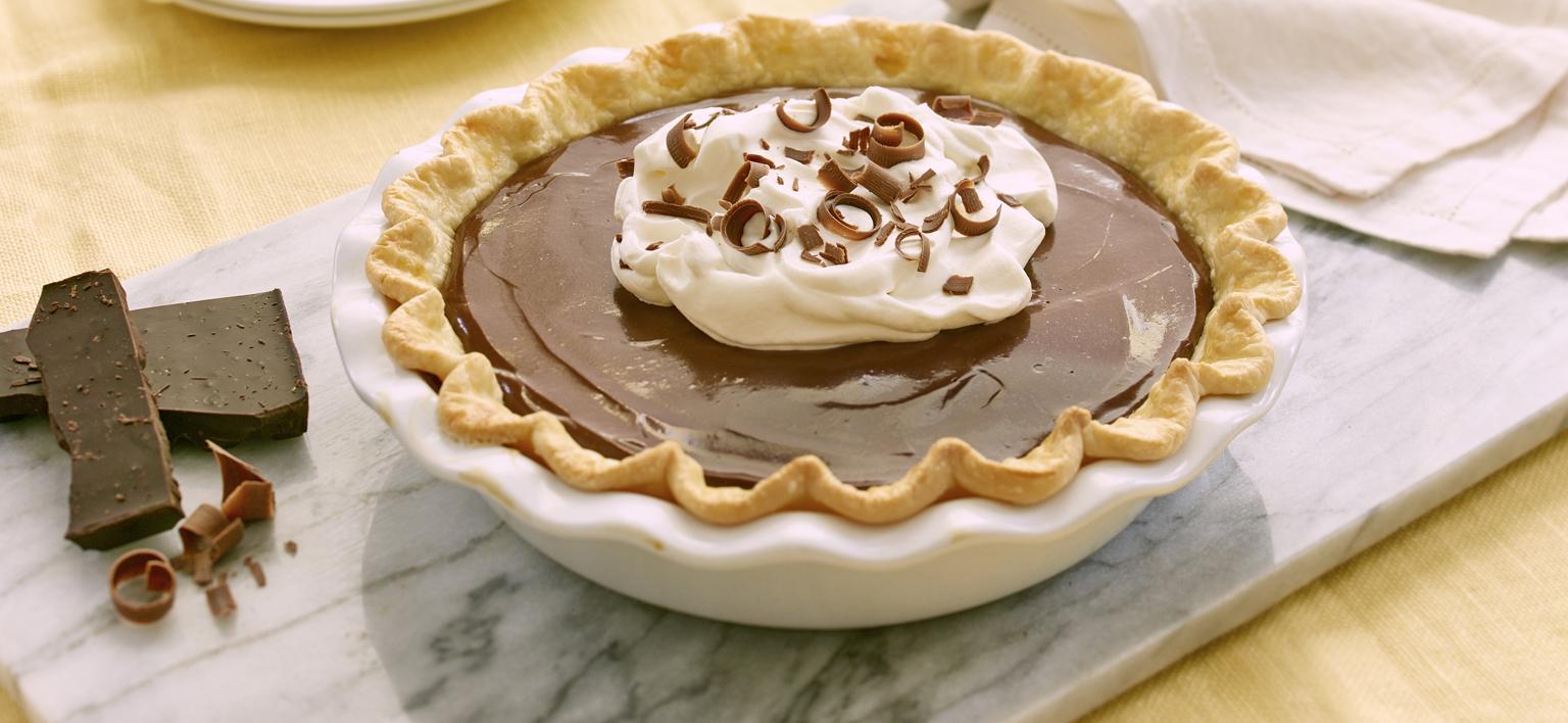 Voir la recette - Tarte à la crème au chocolat