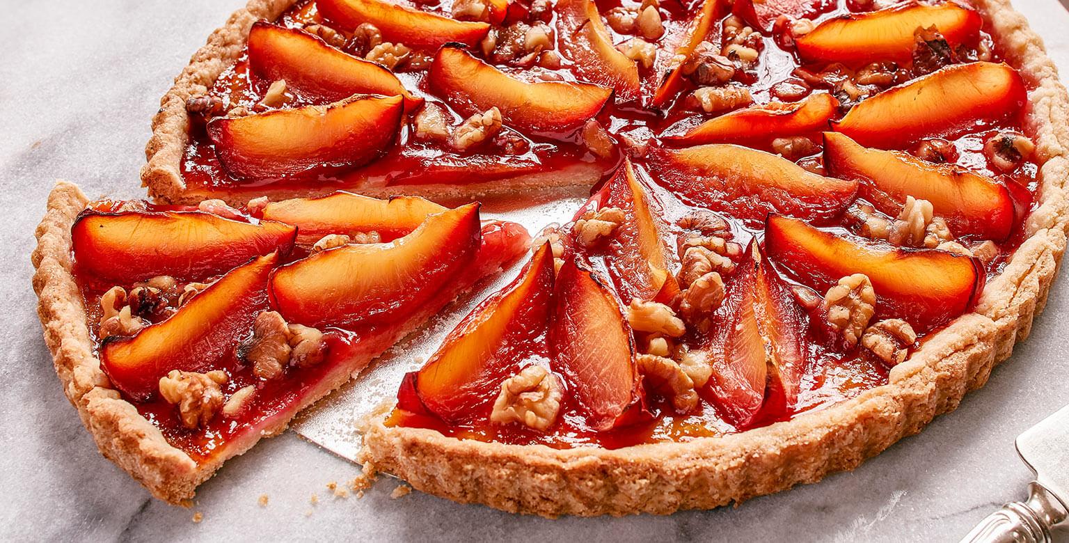 Voir la recette - Tarte aux fruits du verger