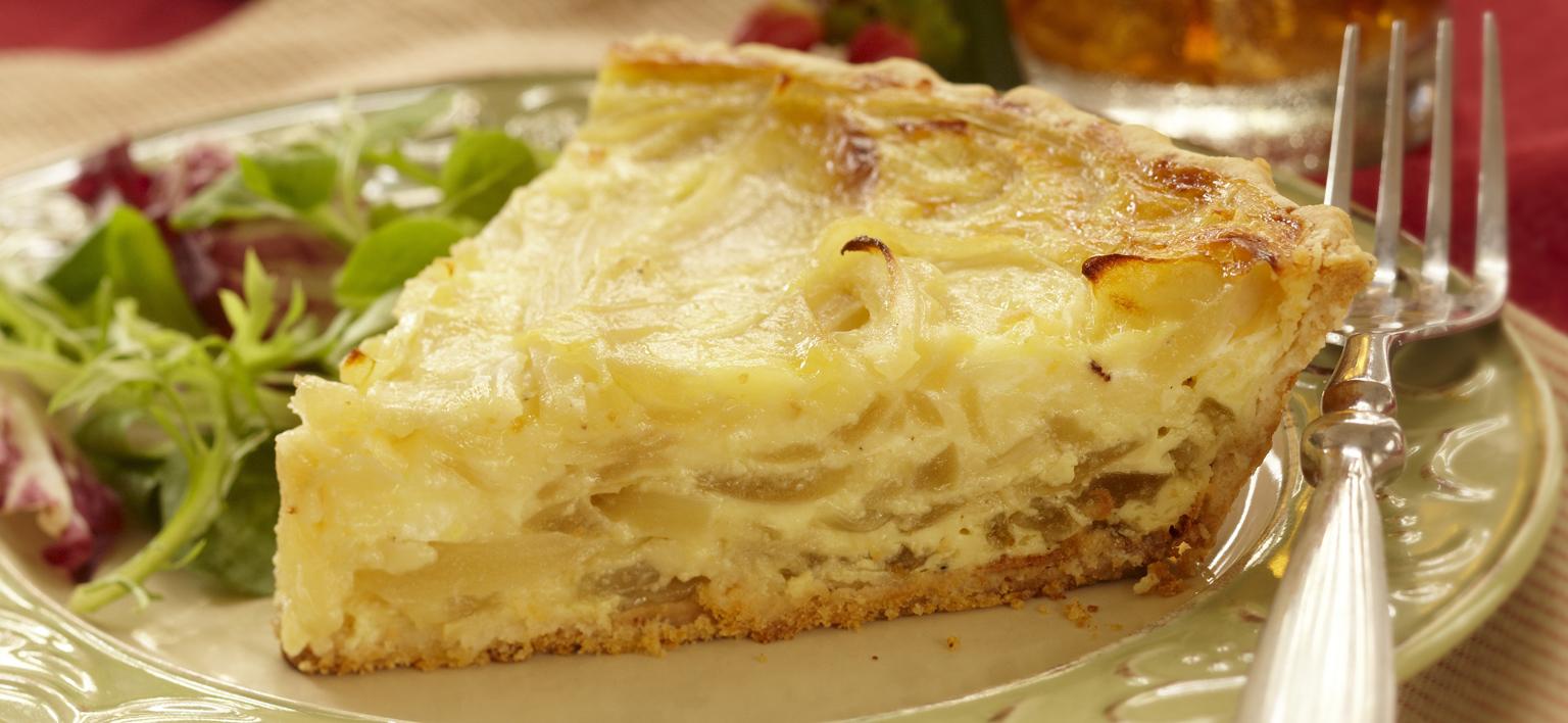 Voir la recette - Tarte aux oignons et au fromage