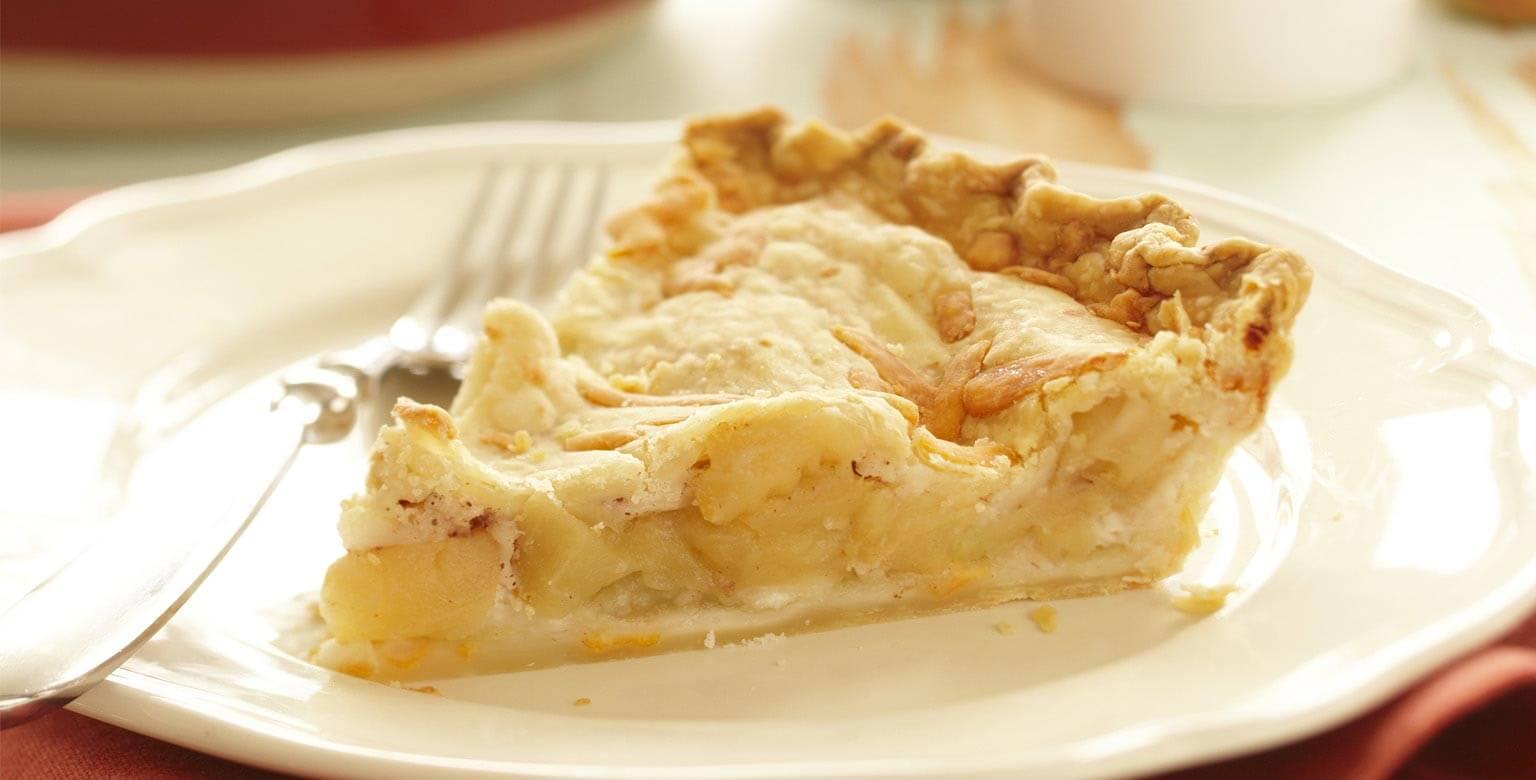 Voir la recette - Tarte aux pommes et au cheddar