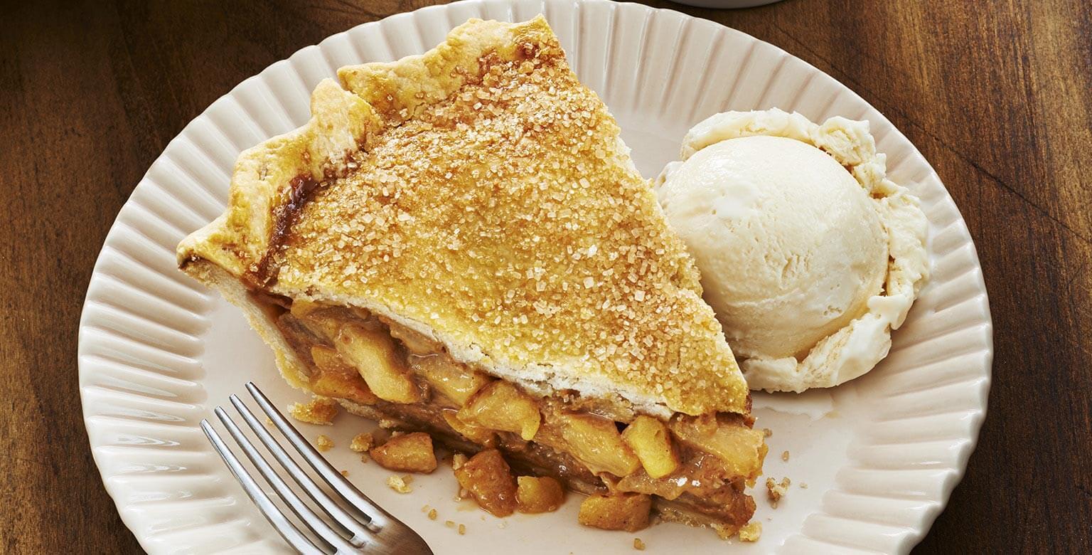 Voir la recette - Tarte aux pommes et caramel salé