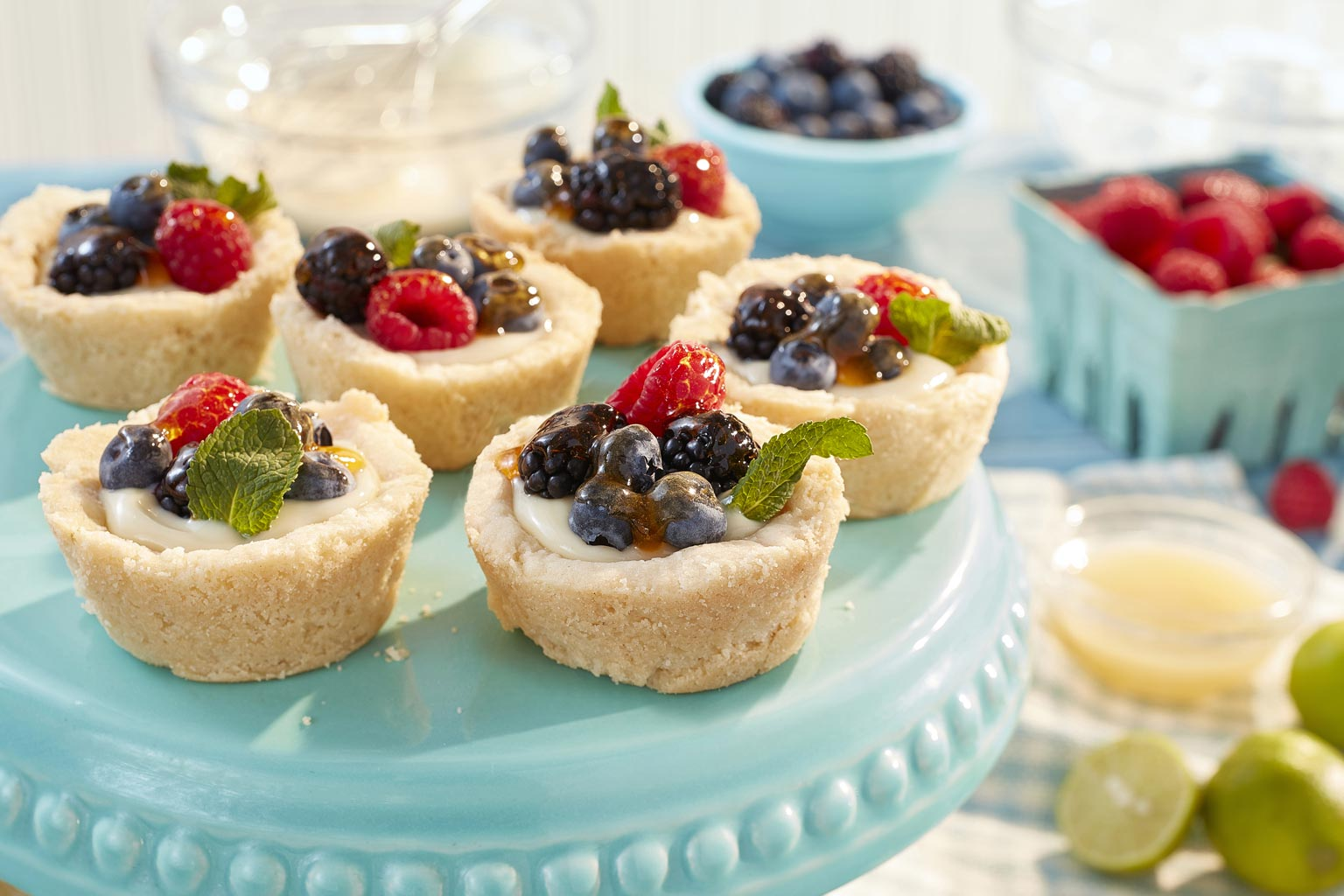 Voir la recette - Tartelettes aux fruits et à la lime
