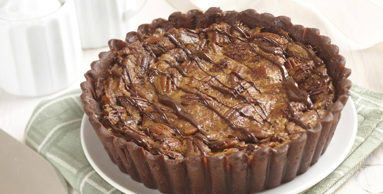 Voir la recette - Tartes aux pacanes et sa croûte chocolatée