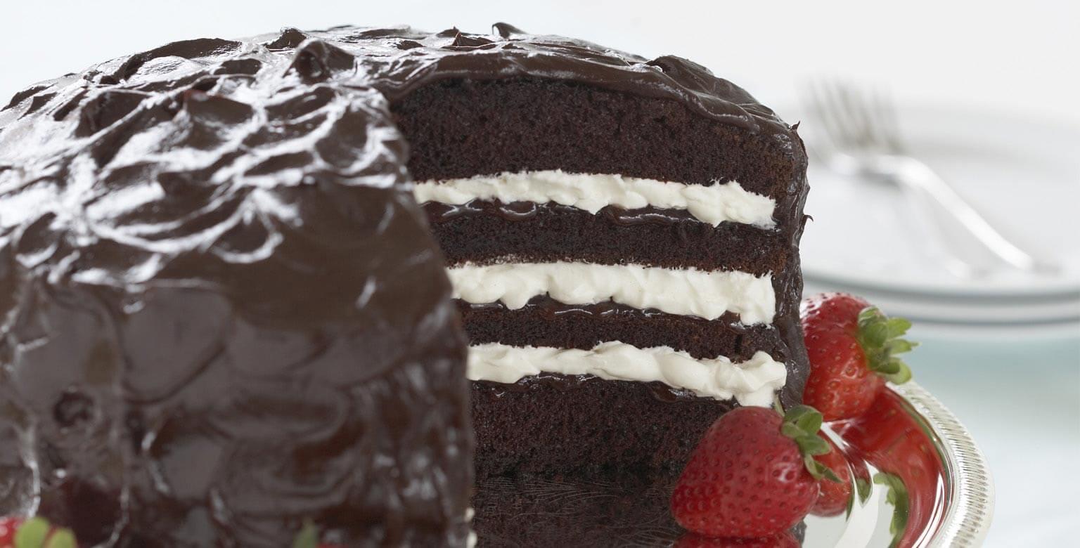 Voir la recette - Torte aux fraises et au chocolat