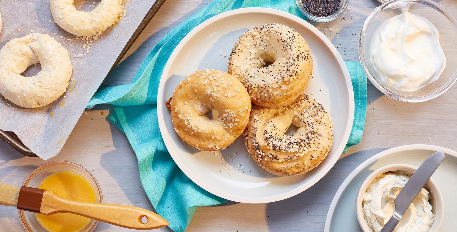 Voir la recette - Bagels — Pâte à deux ingrédients