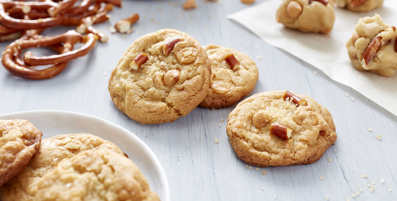 Voir la recette - Biscuits aux bretzels et caramel écossais