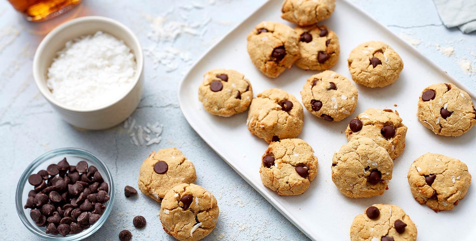 Voir la recette - Biscuits moelleux aux pépites de chocolat et à la noix de coco