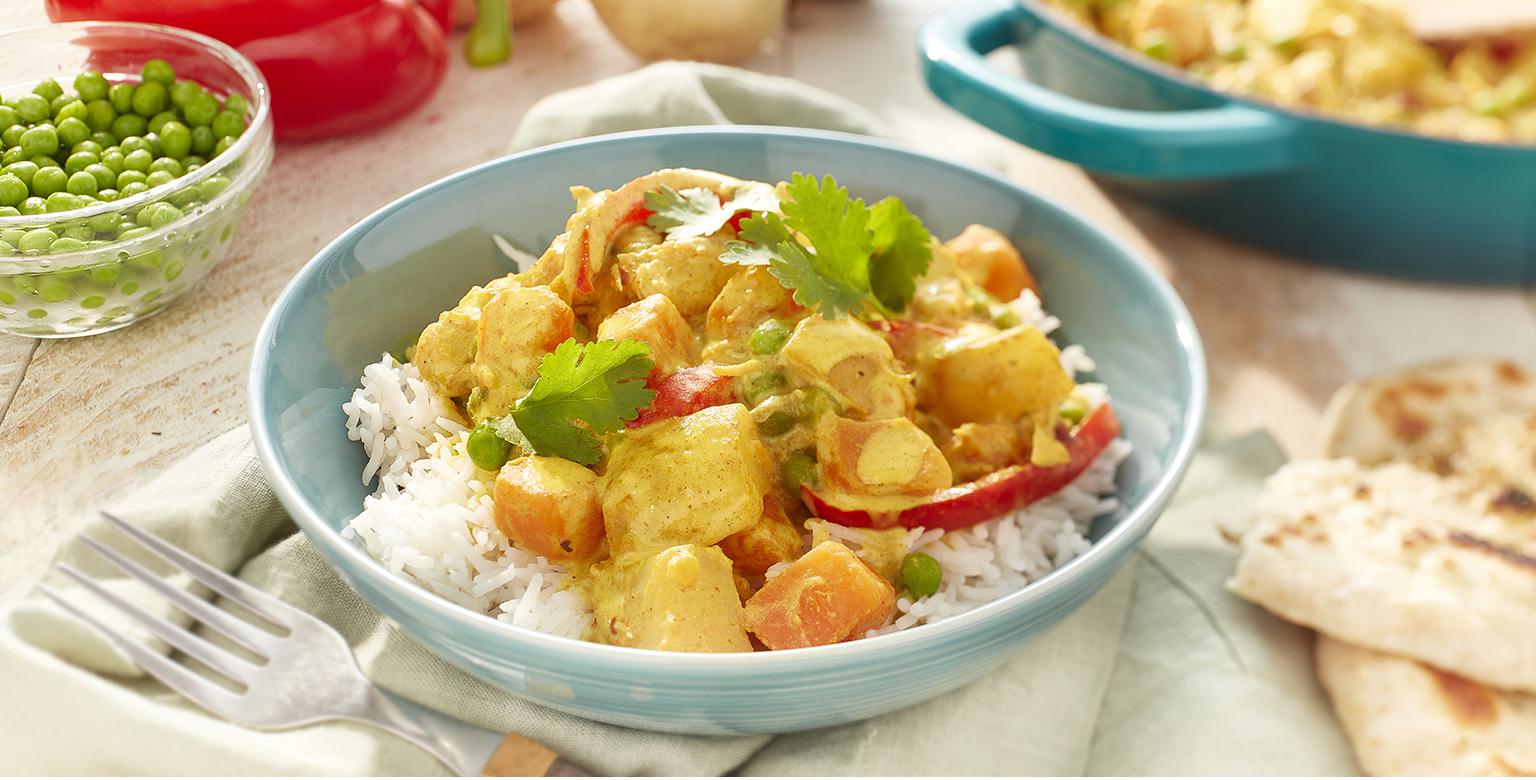 Voir la recette - Cari de poulet et de légumes