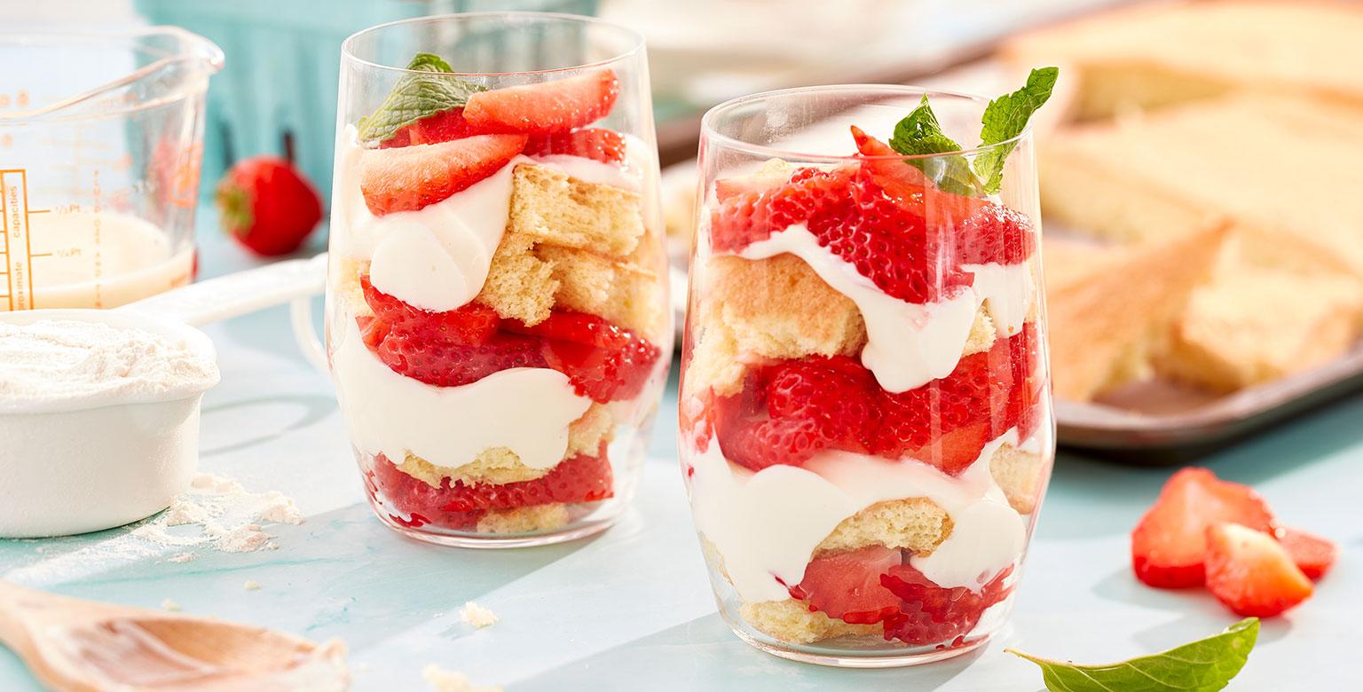 Voir la recette - Parfaits aux fraises fraîches