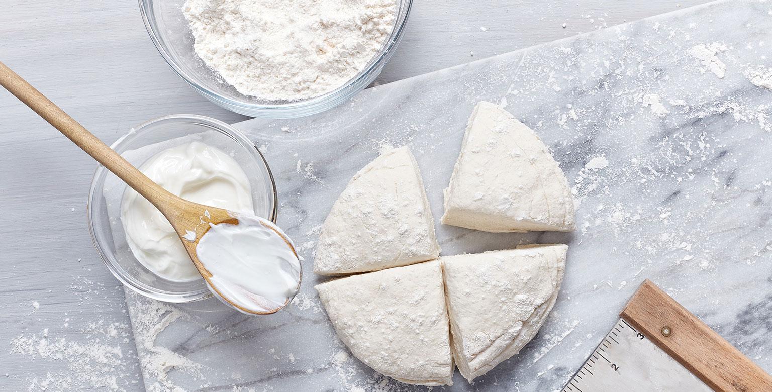 Voir la recette - Pâte à deux ingrédients