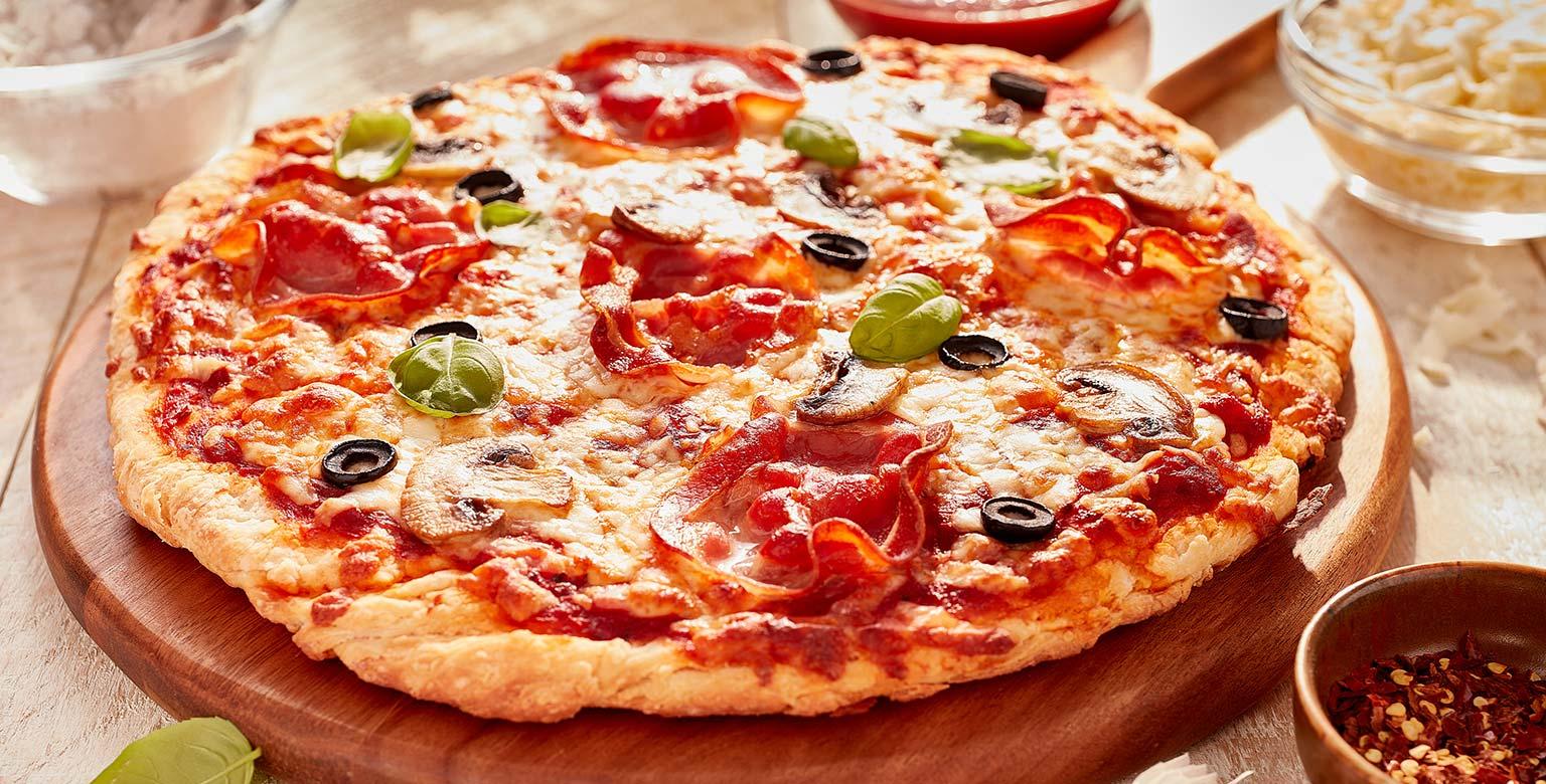 Voir la recette - Pizza sans levure