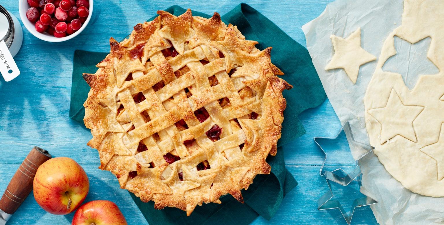 Voir la recette - Tarte aux pommes et aux canneberges