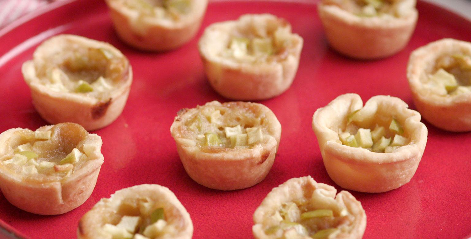 Voir la recette - Tartelettes au beurre avec pommes